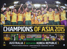 2015 Socceroos Asian Cup Champions AFC Asian Cup triumph Cahill Poster UNFRAMED