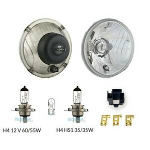 Scheinwerfer mit Glühbirnen H4 (KLARGLAS) E-Prüfzeichen für Simson KR51 Schwalbe
