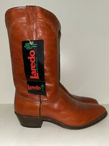 Ladies Laredo Red Leather Roper Western Cowgirl Boots Size: 10.5