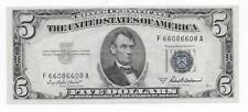 $5 1953-A Silver Certificate Repeater F66086608A CHCU