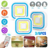 Wireless Stick On Puck LED Night Light Remote Battery Under Cabinet Closet Lamp