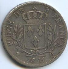FRANCE LOUIS XVIII 5 FRANCS 1815 Q PERPIGNAN VARIETE 5 SUR 4