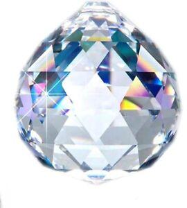 Crystal Ball Prism 30mm Set Lot of 5 Wedding Suncatcher Feng Shui Faceted