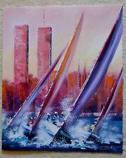 VICTOR SPAHN DAWN BREAKING GICLEE SIGNED #76/450 W/COA TWIN TOWERS