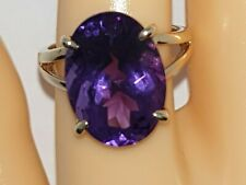 ❤JAYNES GEMS 11.500CT AAA  AMETHYST SILVER RING SIZE UK S EU 60.1/4 US9.5