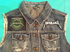Metallica Seek & Destroy Since 1981 Girls Denim Cut-Off Waistcoat Vest Jacket