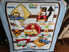 Handmade/ Homemade Baby Quilts-  Cars & Signs