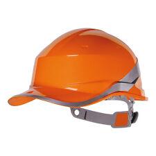 Orange Reversible Short Peak Hard Hat - Baseball Diamond V - Delta Plus