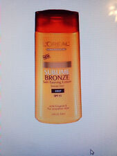 l'oreal dermo-expertise sublime bronze self-tanning lotion, spf 15 deep