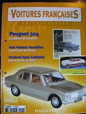 FASCICULE  4  VOITURES FRANCAISES PEUGEOT 504 / FORD VERSAILLES PANHARD DYNA CAB