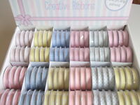 1 REEL DOVECRAFT BABY THEME RIBBON - choice of design- printed grosgrain ribbons