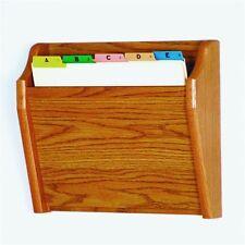 Wooden Mallet Ch14-1 Medium Oak Single Pocket Wall Mounted File / Chart Holder