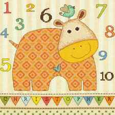 NEW!! 2013 Dimensions BABY HIPPO 123 Counted Cross Stitch Kit ANIMAL