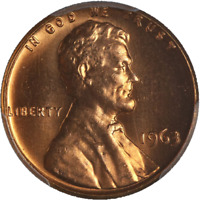 1963-P Lincoln Cent PCGS MS66RD Fiery Red Gem Nice Strike STOCK