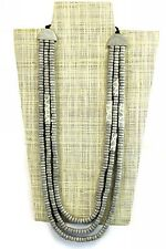 Womens Handmade Wooden Necklace Grey Bead Tribal Adjustable Length Giraffe