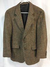 VTG HARRIS TWEED HANDWOVEN SCOTTISH WOOL Blazer Jacket Suit Coat BROWN Men 38/40