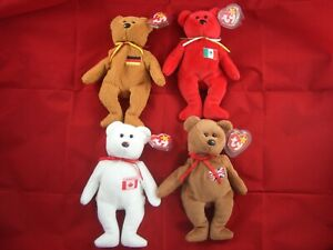 Ty Beanie Babies Britannia, Germania , Maple & Osito Bears