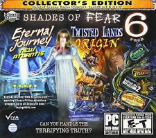 SHADES OF FEAR Hidden Object 6 PACK Collectors Edition PC GAMES- Brand New!
