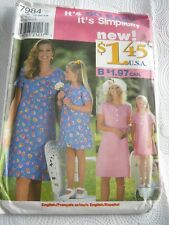 Simplicity Vintage Pattern 7984 Childs and Misses Dress Sizes 3-8 and 12-20