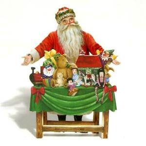 24 Father Christmas at his 3D Festive Table Christmas Cards (EW)