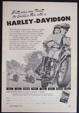 1948 Harley Davidson *Write your own Ticket to Endless Fun* Motorcycle Ad