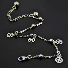 Fashion peace Pendants silver plate Alloy chain Anklet