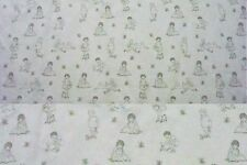 8 Yards Tiny Tots Cream with Army Green Figures