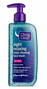 Clean & Clear NIGHT RELAXING Oil-Free Deep Cleaning Face Wash - 8 oz (240 mL)
