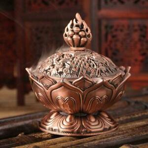 Metal Buddha Holder Shape Small Incense Cones Decor Home DIY Burner V3T4