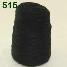 Sale 1 Cone 400g Worsted Cotton Chunky Super Bulky Hand Knitting Yarn Black