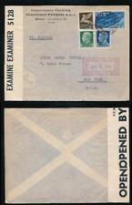 ITALY BERMUDA CENSOR INTERCEPTED 1940 PRINTED ENV. PETROLI + AIR ISSUES CLIPPER