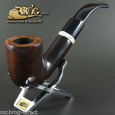 "OUTSTANDING HAND MADE Mr.Brog original smoking pipe nr.106 brown smooth ""MAGNUM"""