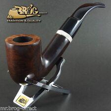 "OUTSTANDING HAND MADE Mr.Brog original smoking pipe nr.106 brown smooth ""MAGNUM"""