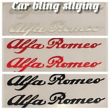 2x alfa romeo-vinyl voiture autocollants stickers gtv 155 145 haute température rouge noir argent