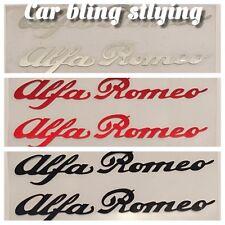 2x Alfa Romeo - Vinyl Car Decals Stickers GTV 155 145 High Temp Red Black Silver