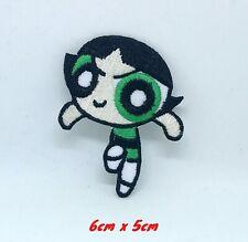 The Powerpuff Girls superhero cartoon Green Iron on Embroidered Patch1401G