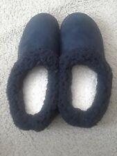 Dearfoams Womens Mule Slippers Size Lg 9-10 Black w/ Microfiber Lining