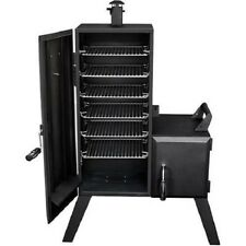 Outdoor Offset Smoker Charcoal Vertical Smoke Rack Backyard Meat Ribs Cooker New