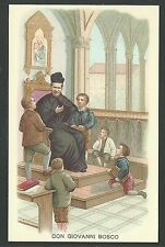 Estampa de San Juan Bosco andaachtsbild santino holy card santini