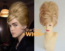 Deluxe Blonde Courte Ruche années 1960 Mod bouffant Fashion Costume Perruque Drag