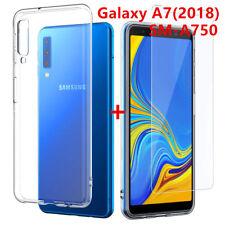 Protection pour Samsung Galaxy A7 2018 A750 / COQUE / VERRE TREMPE AUX CHOIX