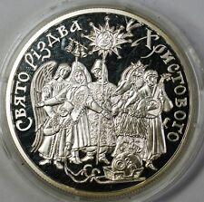 2002 Ukraine 10 Hryvnias Celebration of Christmas Silver Proof Commem Coin