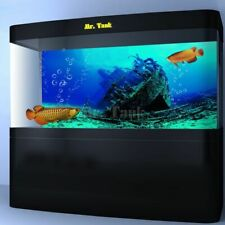 Large Shipwreck Fish Tank Wallpaper Aquarium Background Poster Self-Adhesive New