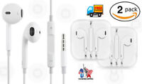 2 Pack Lot Generic New Earphones for iPhone 6 6S 5 5S 4 4S SE Remote & Mic