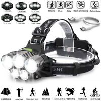 350000LM T6 LED Headlamp Headlight Torch Rechargeable Flashlight 18650 Camping
