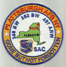 USAF BASE PATCH, PLATTSBURGH AFB N.Y. , SAC, GONE BUT NOT FORGOTTEN Y