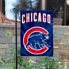 Chicago Cubs Walking Bear Garden Flag and Yard Banner