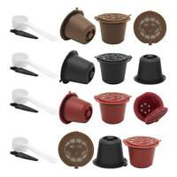 3pcs Refillable Reusable Coffee Capsule Filters for Nespresso Machine