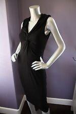 NWT Shape FX Black Enhance & Control Twist Knot Front Wiggle Pencil Dress 4