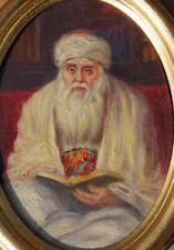 Aaron Shaul Schur, Jerusalem, 1923, kleines Ölbild auf Holz,
